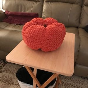 Handmade crochet large pumpkin
